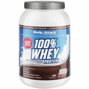 Body Attack 100% Whey Protein, Kreemiküpsise (900 g) 1/1
