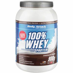 Body Attack 100% Whey Protein, Šokolaadi (900 g) 1/1