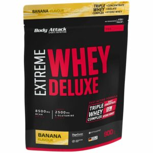 Body Attack Extreme Whey Deluxe valgupulber, Banaani (900 g) 1/1