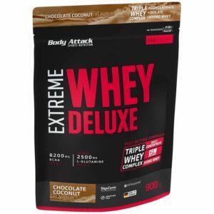 Body Attack Extreme Whey Deluxe valgupulber, Šokolaadi-kookosekreemi (900 g) 1/1