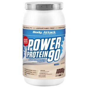 Body Attack Power Protein 90 valgupulber, Pistaatsiakreemi (1 kg) 1/1