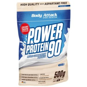 Body Attack Power Protein 90 valgupulber, Kookosekreemi (500 g) 1/1