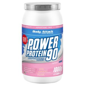 Body Attack Power Protein 90 valgupulber, Aprikoosi-granadillikreemi (1 kg) 1/1