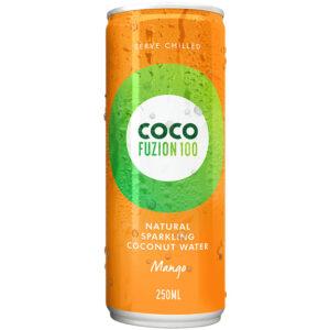 CocoFuzion100 gaseeritud kookosvesi, Mango (250 ml) 1/1