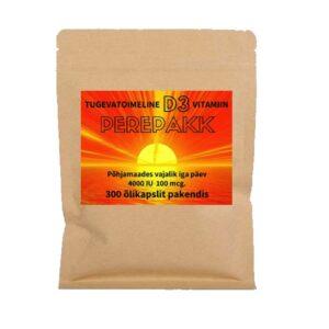 D-vitamiini D3 õlikapslid, 4000 IU (300 tk) 1/1