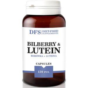 Diet Food Bilberry+Lutein 500mg softgel kapslid mustikaekstrakti ja luteiiniga (120 tk) parim enne 30.11.2020 1/1