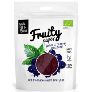 Diet Food Bio Fruity Paper orgaanilised marjakrõpsud, Mustsõstra (25 g) 1/1