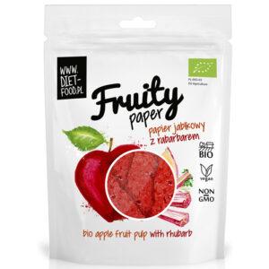 Diet Food Fruity Paper orgaanilised marjakrõpsud, Õuna-rabarberi (25 g) 1/1