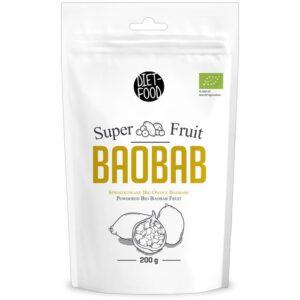 Diet Food Super Fruit Bio Baobab ahvileivapuu viljade pulber (200 g) 1/1