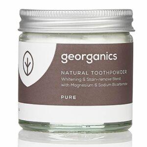 Georganics looduslik hambapulber, Puhas kookos (maitseta) (60 ml) 1/1