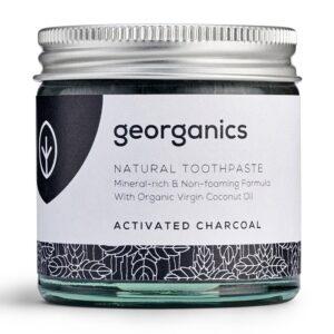 Georganics looduslik remineraliseeriv hambapasta kookosõli baasil, Valgendava aktiivsöega (120 ml) 1/1
