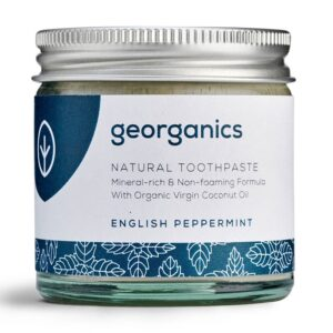 Georganics looduslik remineraliseeriv hambapasta kookosõli baasil, Metsiku inglise piparmündiga (120 ml) 1/1