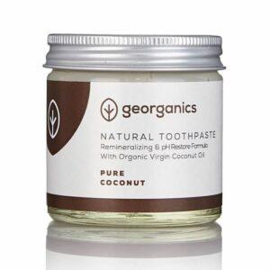 Georganics looduslik remineraliseeriv hambapasta kookosõli baasil, Puhas kookos (120 ml) 1/1