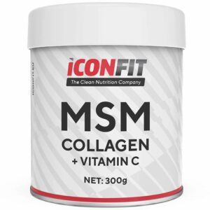ICONFIT MSM Collagen + Vitamiin C, Maitsestamata (300 g) 1/1