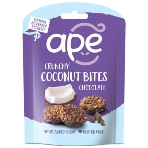 Ape Snacks Crunchy Coconut Bites kookoseampsud, Šokolaadi (26 g) 1/1