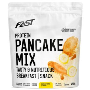 Fast Protein Pancake Mix valgurikas pannkoogijahu, Banaani-iirise (450 g) 1/1