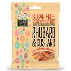 Free From Fellows suhkru-ja želatiinivabad kommid, Rhubarb and Custard (70 g) 1/1